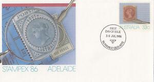(13913) Australie Entiers Postaux Fdc Stampex Adelaide 30 Juillet 1986-afficher Le Titre D'origine Large SéLection;