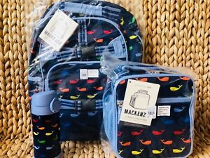 Pottery Barn Kids Large Backpack Multi Whale Lunchbox