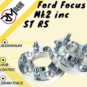 FORD-Focus-Mk2-INC-ST-RS-5x108-20mm-Hubcentric-Wheel-Distanziatori-1-COPPIA-fatta-in-UK