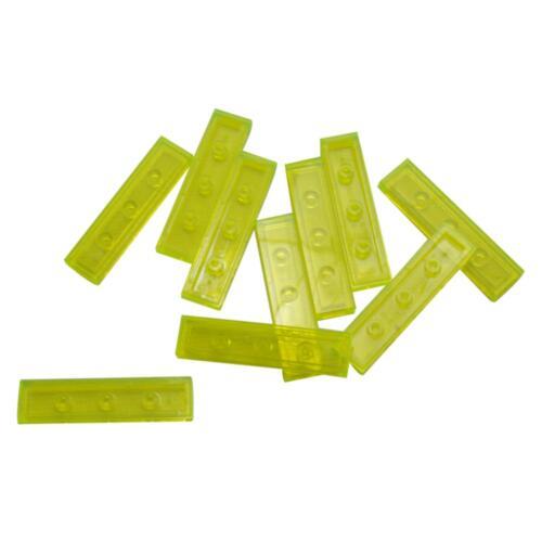 10 NEW LEGO Tile 1 x 4 Trans-Neon Green