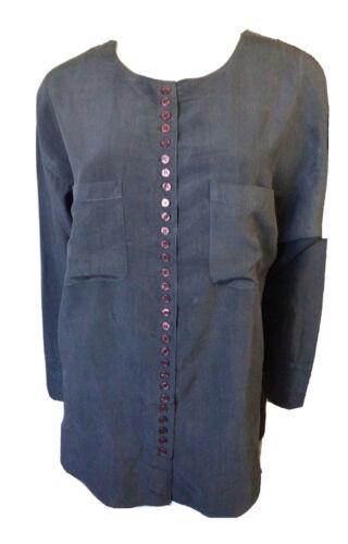 Vintage 80s 90s I. Magnin  Button Front Silk Blous