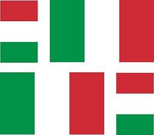 4-x-Aufkleber-Auto-Sticker-tuning-motorrad-italienische-italy-Fahne-Flagge