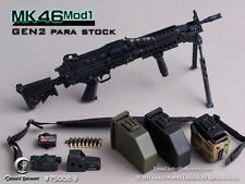 "Crazy Dummy 1:6 MK46 Mod1 Gen2 Para Stock Weapon Model 75002-3 For 12"" Figure"