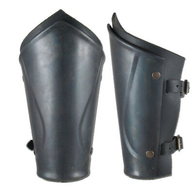 Pair  of English bracers Medieval knight stainless Armor Larp Faire Gothic