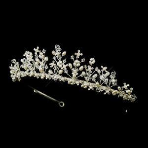 CLOSEOUT-Price-Silver-Crystal-Freshwater-Pearl-Prom-Bridal-Royal-Princess-Tiara