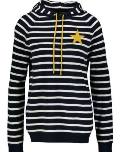 azul capucha Bnwt estrellas con de viscosa y Chinti con Suéter de marino Parker pHS00wqUf