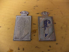 FIAT 124 1.8/2.0 SPIDER EARLY CHROME SIDE BADGES X 2 RARE ITEMS!