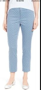 NWT-NYDJ-Womens-Corynna-Blue-Printed-Ankle-Pants-Sz12-slimming-fit