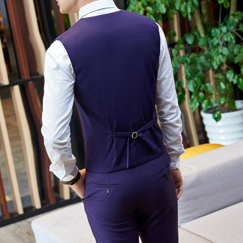 Men Purple Formal 3 Piece Suit Groom Tuxedo Suit Business Wedding Suit Custom
