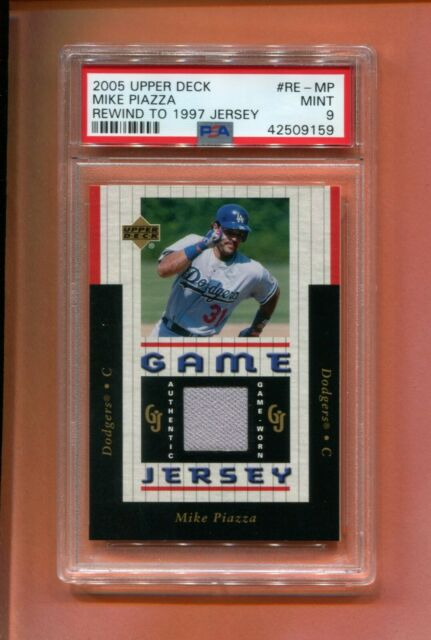 2005 Ud Upper Deck Mike Piazza Game Used Jersey 150 Made Psa 9 Tuff Card Dodgers