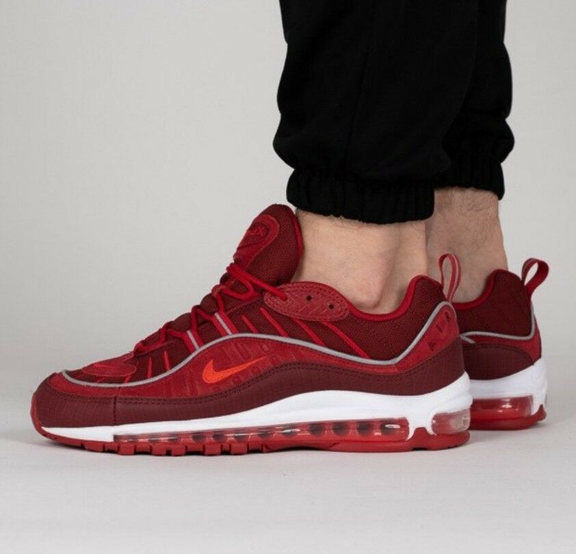 Nike Air max 98 98 98 SE Size 8 UK Gym Red & White Genuine Authentic Mens Trainers e6cd34
