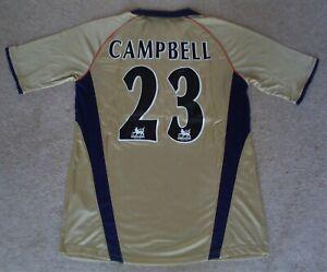 BESPOKE-034-SOL-Campbell-23-039-Arsenal-2002-doppio-Via-vincente-Camicia-Medio-Grande