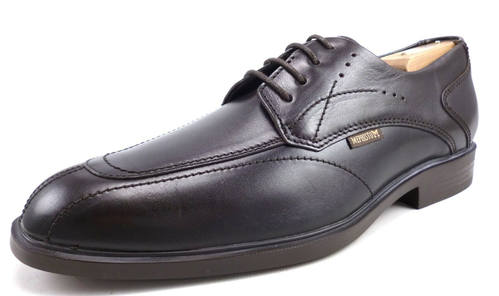 Mephisto Men's Shoes Leather Folkar Lace Up Oxfords Dark Brown Size 8.5