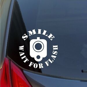 Smile-Wait-for-Flash-Barrel-front-sight-vinyl-sticker-decal-2A-Gun-Rights-pistol