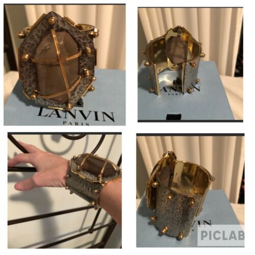 Lanvin Gold Cuff Bracelet