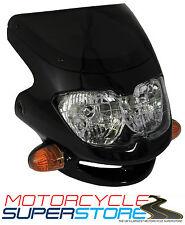 UNIVERSAL MOTORCYCLE MOTORBIKE (STREETFIGHTER STYLE) FAIRING HEADLIGHT BLACK