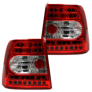 LED-Rueckleuchten-Set-Klarglas-fuer-VW-Passat-3B-Limo-Bj-1996-2000-Rot