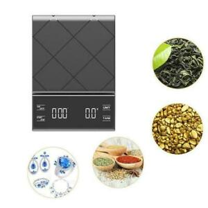 Portable Electronic Digital Coffee Scale With Timer High Display HOT LED Q9S7