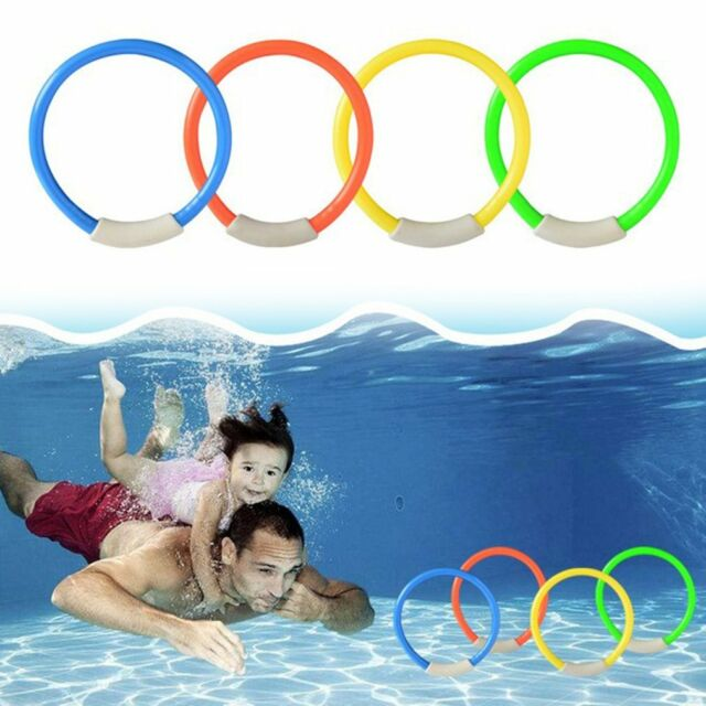 4Pcs Diving Rings Children Swimming Pool Underwater Games Kids Water Play Toys K