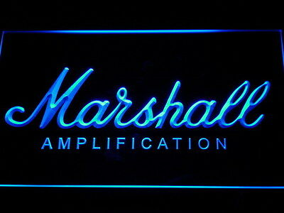 Marshall Guitars Bass Amplifier LED Neon Light Sign Man Cave K168-B