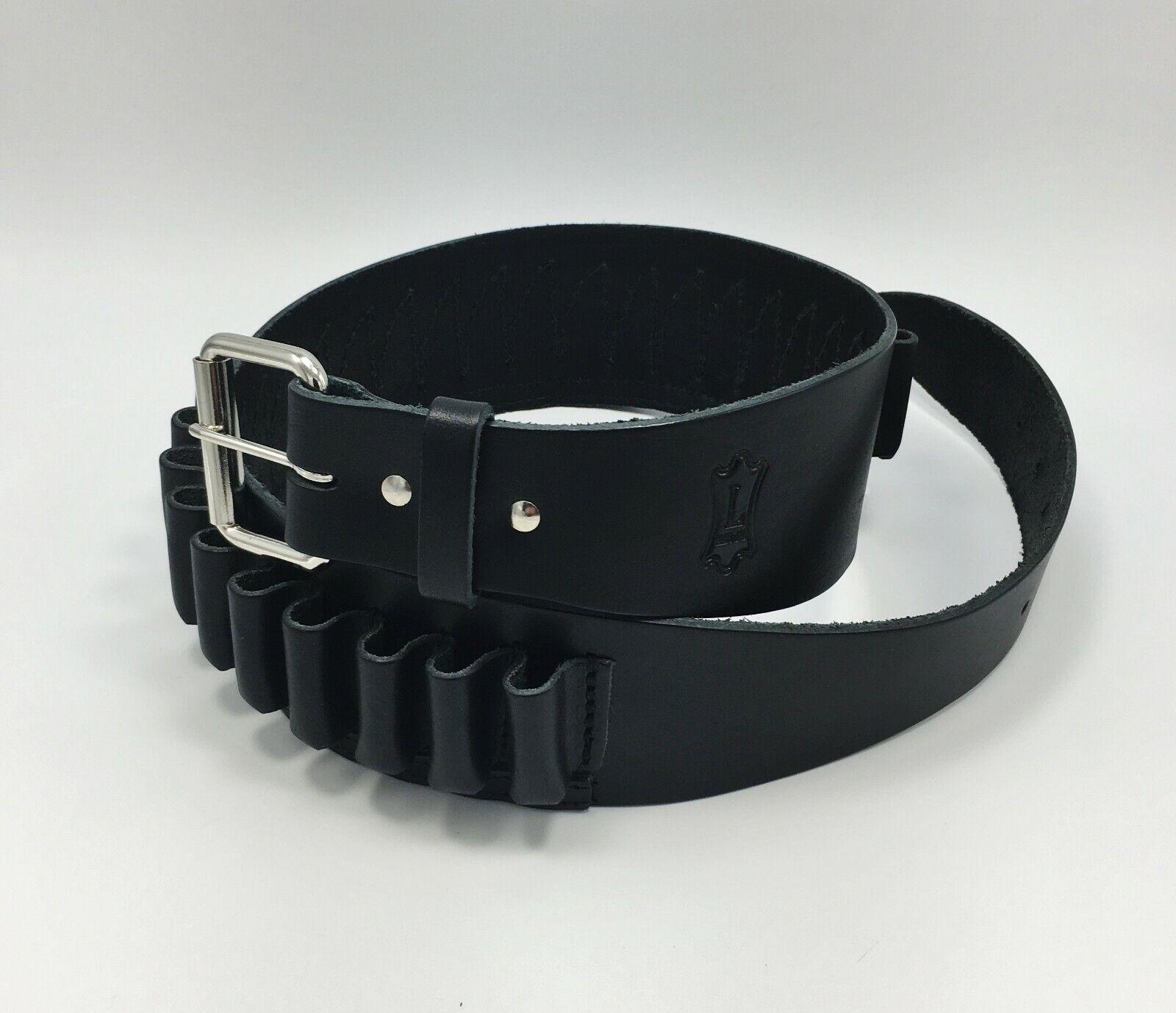 Levy's cueros calibre 20 Cartucho De Concha De Escopeta EV47-20 Cinturón Negro-Elige tamaño