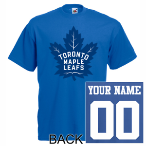 outlet store 047ea acf99 Details about Toronto Maple Leafs T-Shirt JERSEY NHL Personalized Name  Number Team Hockey