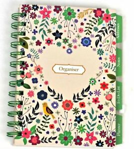 organiser daily planner address book notepad flowers wiro stationery