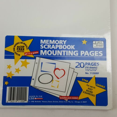 Artistic Memory Scrapbook Paper Album Refill Pages Post Mount 30 Pages Old Style