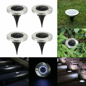 4pcs-16LED-Solar-Ground-Lights-Floor-Decking-Outdoor-Garden-Lawn-Path-Lamps-UK