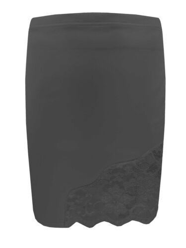 Ladies Womans Stretch Bodycon A-line Pencil Mini Party Black Lace Short Skirt