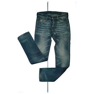 CARE-LABEL-Herren-Jeans-Hose-MEN-slim-Destroyed-W30-L32-hellblau-used-look-NEU