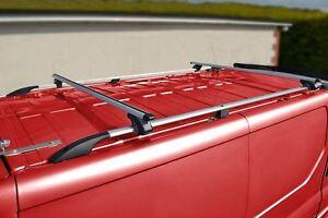 Vauxhall Opel Vivaro Aluminium Roof Rack Rails Cross