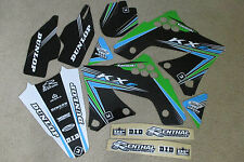 FLU DESIGNS PTS2 TEAM  KAWASAKI GRAPHICS  KX250F KXF250  2009 2010 2011 2012