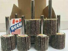 10 Pack 60 Grit 1 X 58 X 14 In Shank Flap Wheels Keen Abrasives 23208