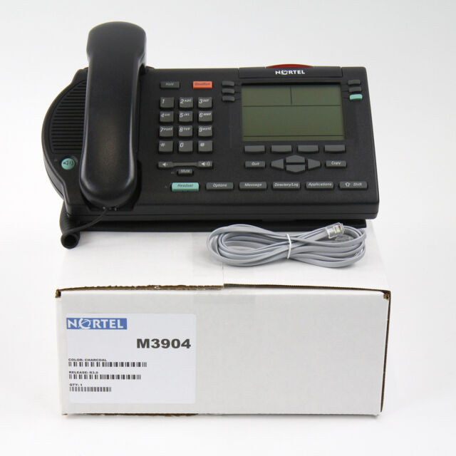 Nortel Meridian M3904 Display Avaya Phone Charcoal- Bulk