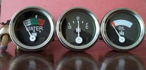 IH Temp Oil Pr Amp Gauge Set Super A,Super AV,BN,H,Super H,I4,I6,ID6,I9,ID9,100