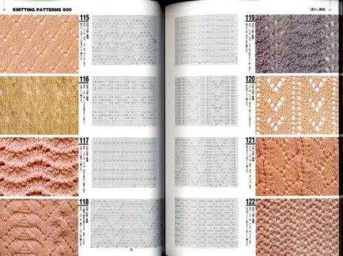 KNIT Designs Book 500 Japanese Craft Book