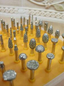 50-x-Klein-schleifer-Schleifstift-DIAMANT-Diamantfraeser-FRASER-fuer-Dremel-K-40
