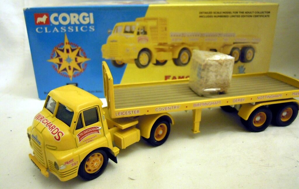 Corgi 19802  Bedford s artic tráiler  J.W. Richards  en 1 50, n e u & o V p