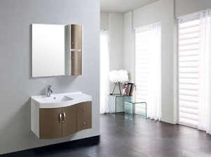 Accessori Bagno Marrone : Mobile arredo bagno completo pensile cm marrone lavabo specchio