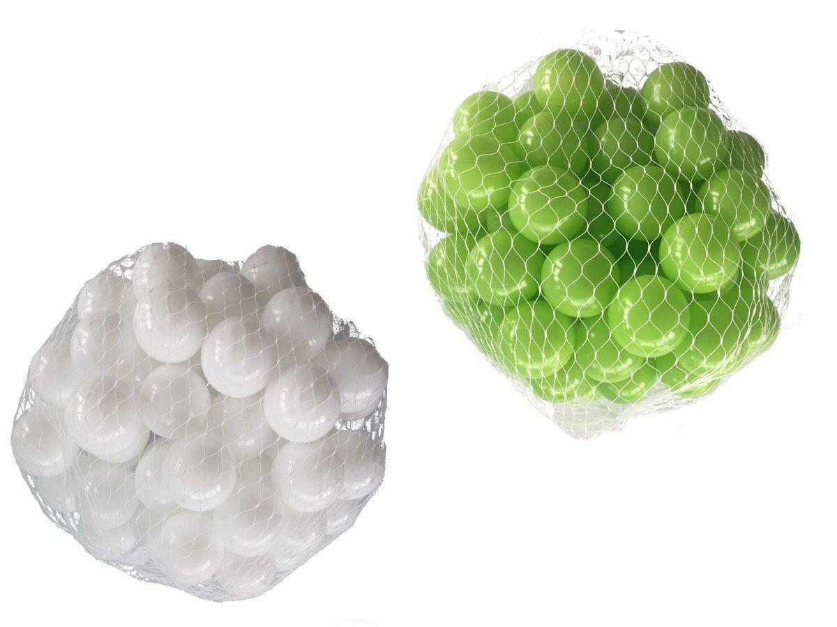 100-10000 Bälle Bällebad Bälle 100-10000 55mm mix hellgrün weiß gemischt Farben Baby Kind 2209ca