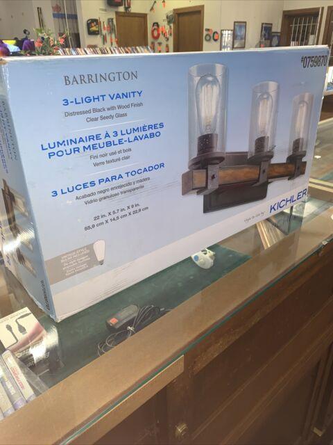 Kichler Barrington 3 Light Black Rustic Vanity Light Bar 0759870 For Sale Online Ebay
