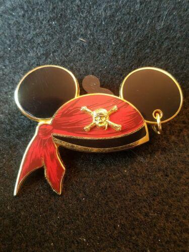 disney pin Pirates of the Caribbean mickey hat hoop earring bandana ears e65