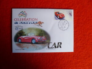 2003-ALPHA-AUST-FIRST-DAY-COVER-RED-CAR-CELEBRATION-NATION