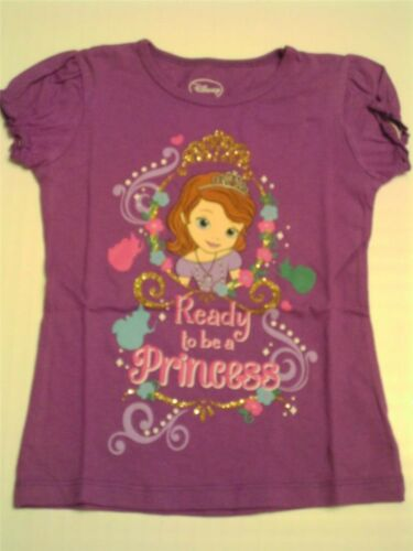 Disney Sofia The First NWT Short Sleeve Purple T-shirt Size 4 5