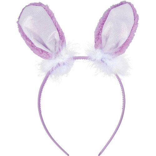 AMSCAN SOFT PURPLE PLUSH BUNNY EARS HEADBAND FANCY DRESS CHILDRENS EASTER FUN
