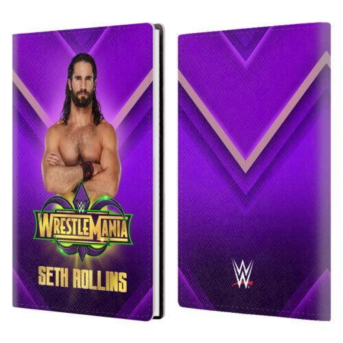 OFFICIAL WWE WRESTLEMANIA 34 SUPERSTARS WHITE GREY LEATHER PASSPORT HOLDER