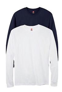 Hanes 5.2oz. ComfortSoft algodón manga larga camiseta E2ELTc2PB2