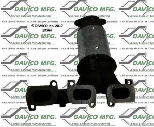 Catalytic Converter-Exact-Fit Front Left Davico Exc CA 19564