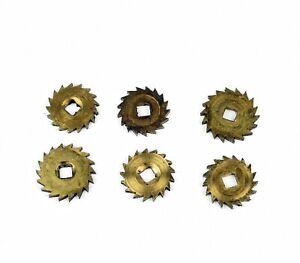 6-x-SPERRRAD-fuer-Uhrwerk-Tischuhr-Wanduhr-Uhrmacher-watchmaker-clock